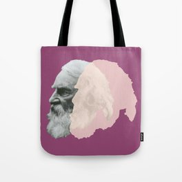 Henry Wadsworth Longfellow - portrait purple and white Tote Bag