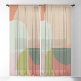 Abstract Geometric 2 #fallwinter #colortrend #decor Sheer Curtain