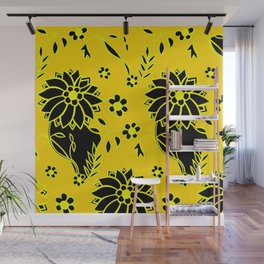 Floral Pattern Gift for Daughter Flower Bed Wall Mural