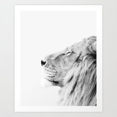 Lion print Art Print