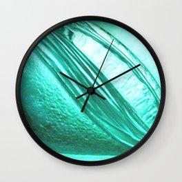 Deep sea blue glass texture Wall Clock