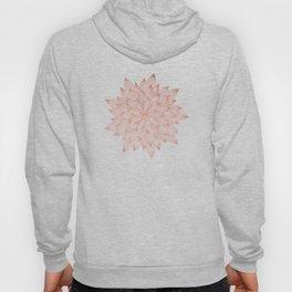 Mandala Flowery Rose Gold on White Hoody
