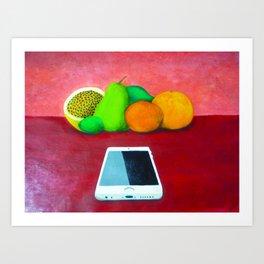 Still Life with iPhone Art Print