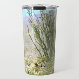Spring in the Desert with Octotillo by Reay of Light Photography Travel Mug