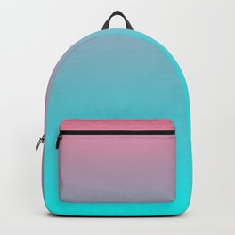 Trendy girly mermaid colors lilac pink teal green turquoise ombre Backpack