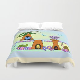 """""""Willy Worm"""" No Place Like Home Duvet Cover"""