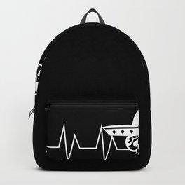 Sombrero Hat Heartbeat Pulse Gift Backpack