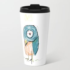 Stressed out Little King Bird  Travel Mug