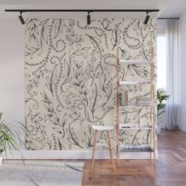 Muted nature pattern Wall Mural