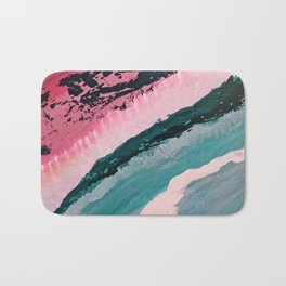 ECHO BEACH BABY | Acrylic abstract art by Natalie Burnett Art Bath Mat