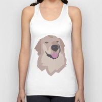 golden retriever Tank Tops featuring Tyson the Golden Retriever by BulanLifestyle