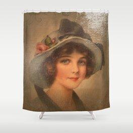 Vintage Lady 02 Shower Curtain