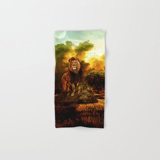 Lion V Hand & Bath Towel