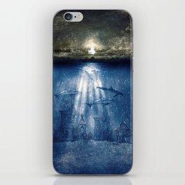 dolphins, civilization. iPhone Skin