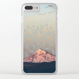 Mountain Mandala Clear iPhone Case