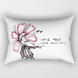"""It's You! I Love You!!"" Flowerkid Rectangular Pillow"