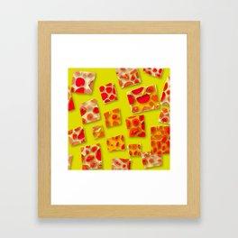 red spotted rectangles Framed Art Print