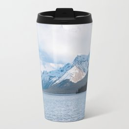 Snow Covered Mountain Photography Print Travel Mug