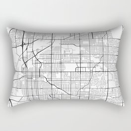 Lincoln Map, USA - Black and White Rectangular Pillow