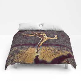 1315s-ZAC Dancer Leaping Air Time Beautiful Black Woman Antonio Bravo Style Comforters