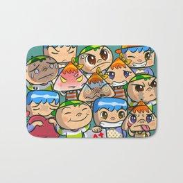 character of sticker line Bath Mat