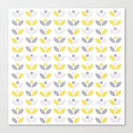 Yellow and Grey Abstract Flower Pattern #society6 #decor #buyart #artprint Canvas Print