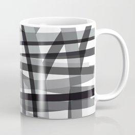 grey crossed stripes Coffee Mug