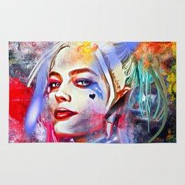 Harley Quinn Painted Rug