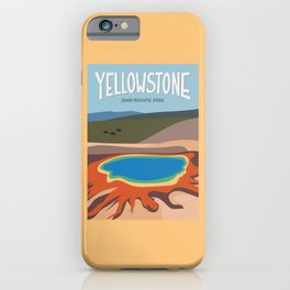 Grand Prismatic Spring, Yellowstone National Park, Wyoming, USA iPhone Case