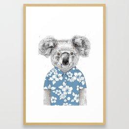 Summer koala (color version) Framed Art Print