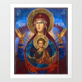 Madonna and Child Icon Virgin Mary Byzantine Orthodox Art work Art Print