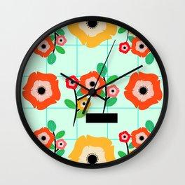 Floral wall Wall Clock