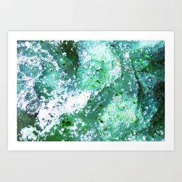 Lost at Sea - Milk & Food Coloring Painting Art Print