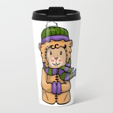 A Lion in Winter Travel Mug
