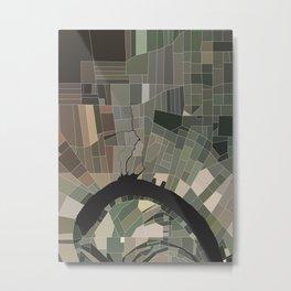 Geometric Oxbow Metal Print
