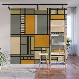 Frank Lloyd Wright Inspired Art Wall Mural