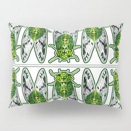 Emerald Cicadas Pillow Sham