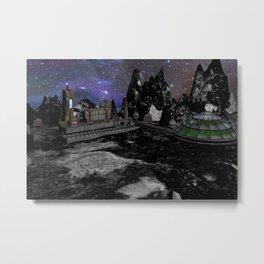 Moon Colony Metal Print