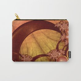 Decoration, Fractal Art Shining Grapic With Warm Colors Carry-All Pouch
