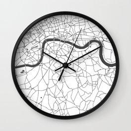 London White on Gray Street Map Wall Clock