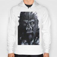 gorilla Hoodies featuring Gorilla by rchaem