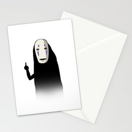No Face and a Bird Stationery Cards