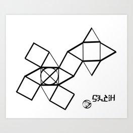 Folding solids  Art Print