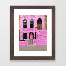 Solange in Brooklyn Framed Art Print