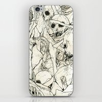 bones iPhone & iPod Skins featuring Bones by Jess Worby