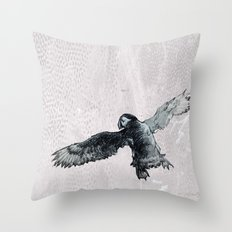 Soar the puffin Throw Pillow
