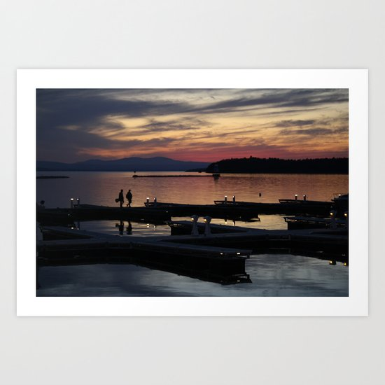 Champlain Dusk Art Print