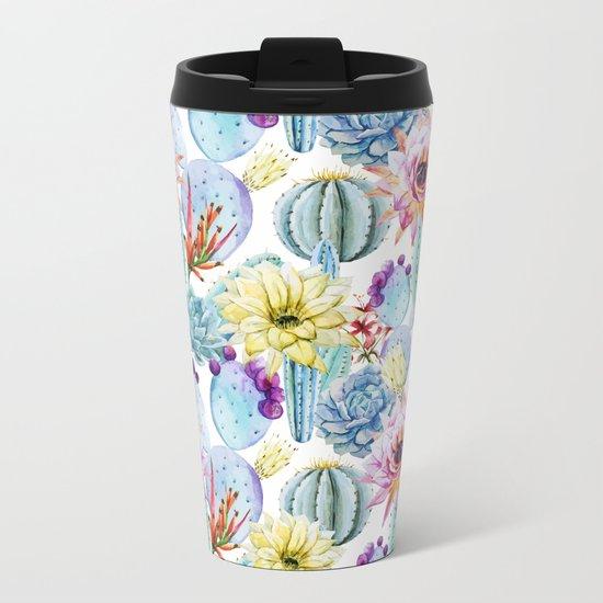 Cactus Pattern 11 Metal Travel Mug