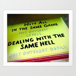 THE SAME GAME Art Print