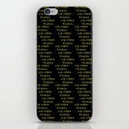 Motto of belize 2 -black and golden version -  -Sub umbra floreo. iPhone Skin